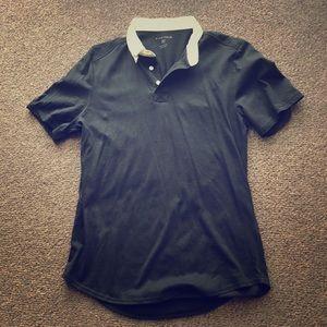 Five Four Shirts - Black shirt w/white collar